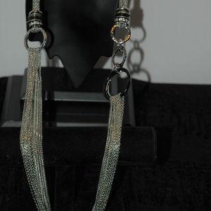 Retired Chico's Multi Silver Tone Chain necklace